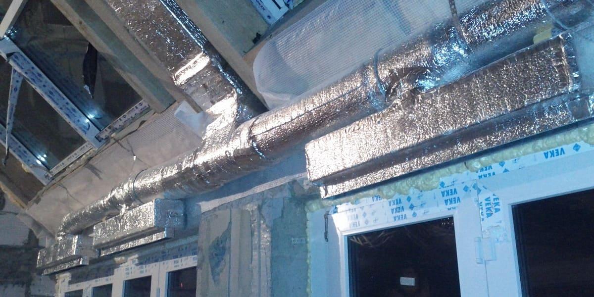 Монтаж утеплених повітропроводів вентиляції